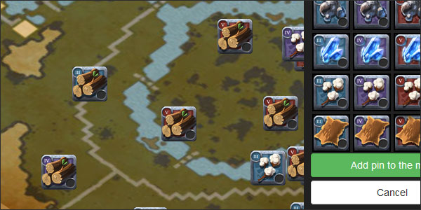 Albion Online Map – Plot resources points